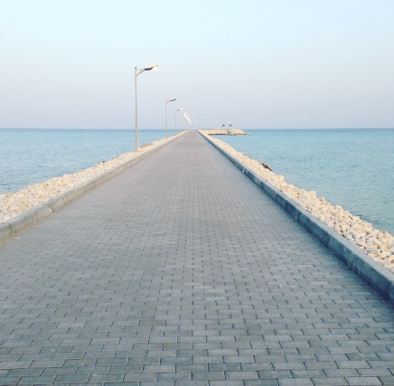Walk to the end of the promenade