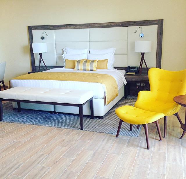 Warm inviting bedroom